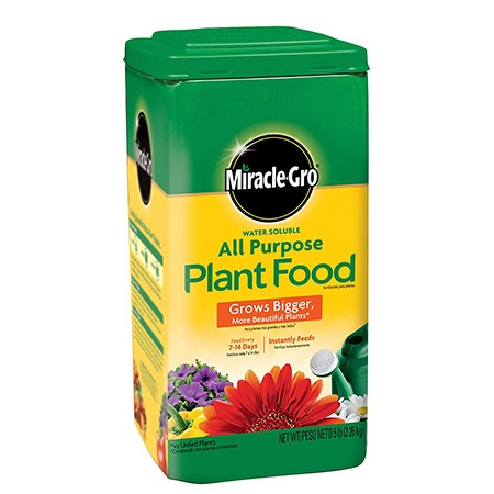 8. Miracle-Gro 1001233 All Purpose Plant Food