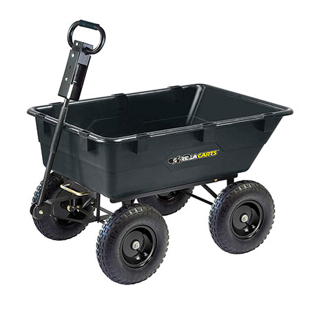 10. Gorilla Carts GOR866D Garden Poly Dump Cart Review