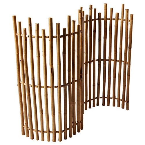 4. Master Garden Product Bamboo Pickets Rolled Fence,