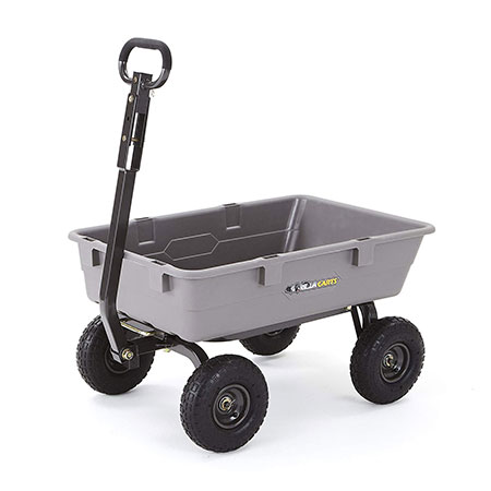2. Gorilla Carts Poly Garden Dump Cart Review