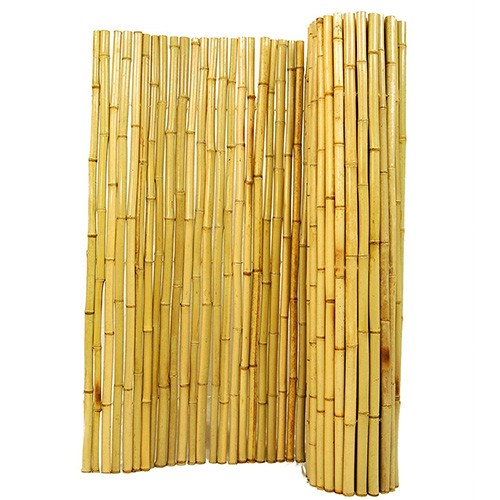 6. Natural Rolled Bamboo Fencing