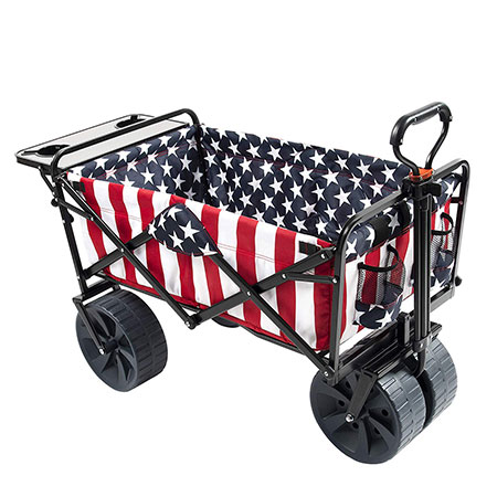 3. Mac Sports Collapsible Wagon Review, American Flag Pattern