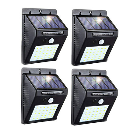 3. 30 LED Solar Lights Outdoor