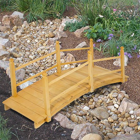 1. Best Choice Products Wooden Bridge