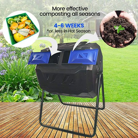 5. Large Compost Tumbler Bin by Compost Master