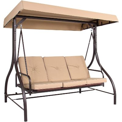 10. Best Choice Products 3-Seat Patio Canopy Swing