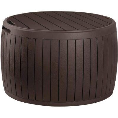 1. Keter Circa 37-Gallon Round Deck Box